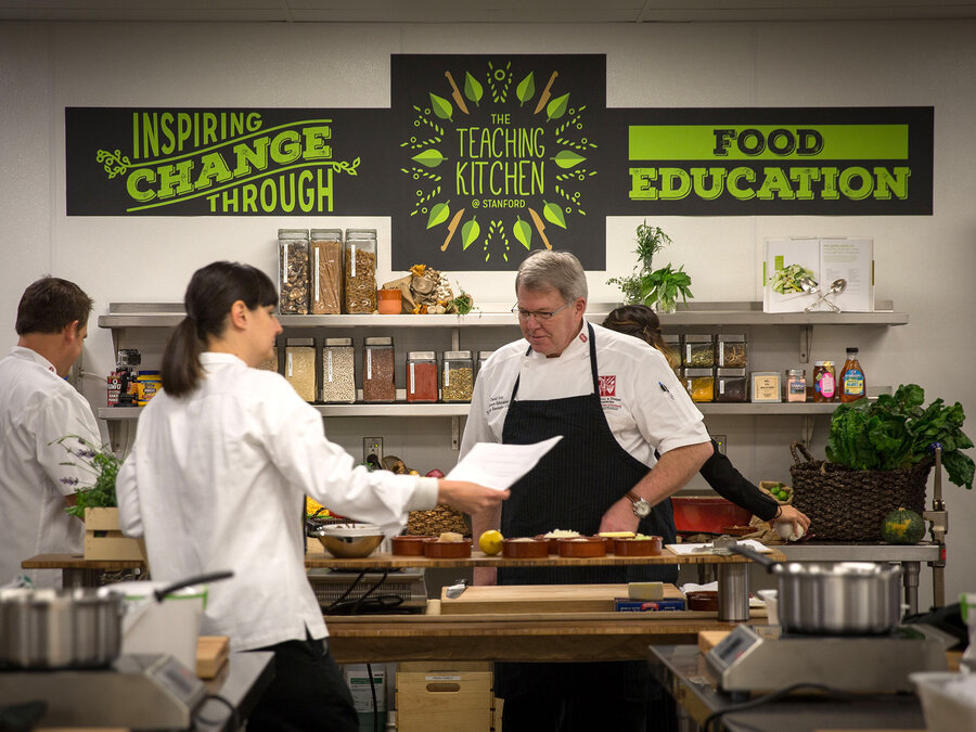 Teaching Kitchen Design cooking 101: stanford adds healthful eating skills to the