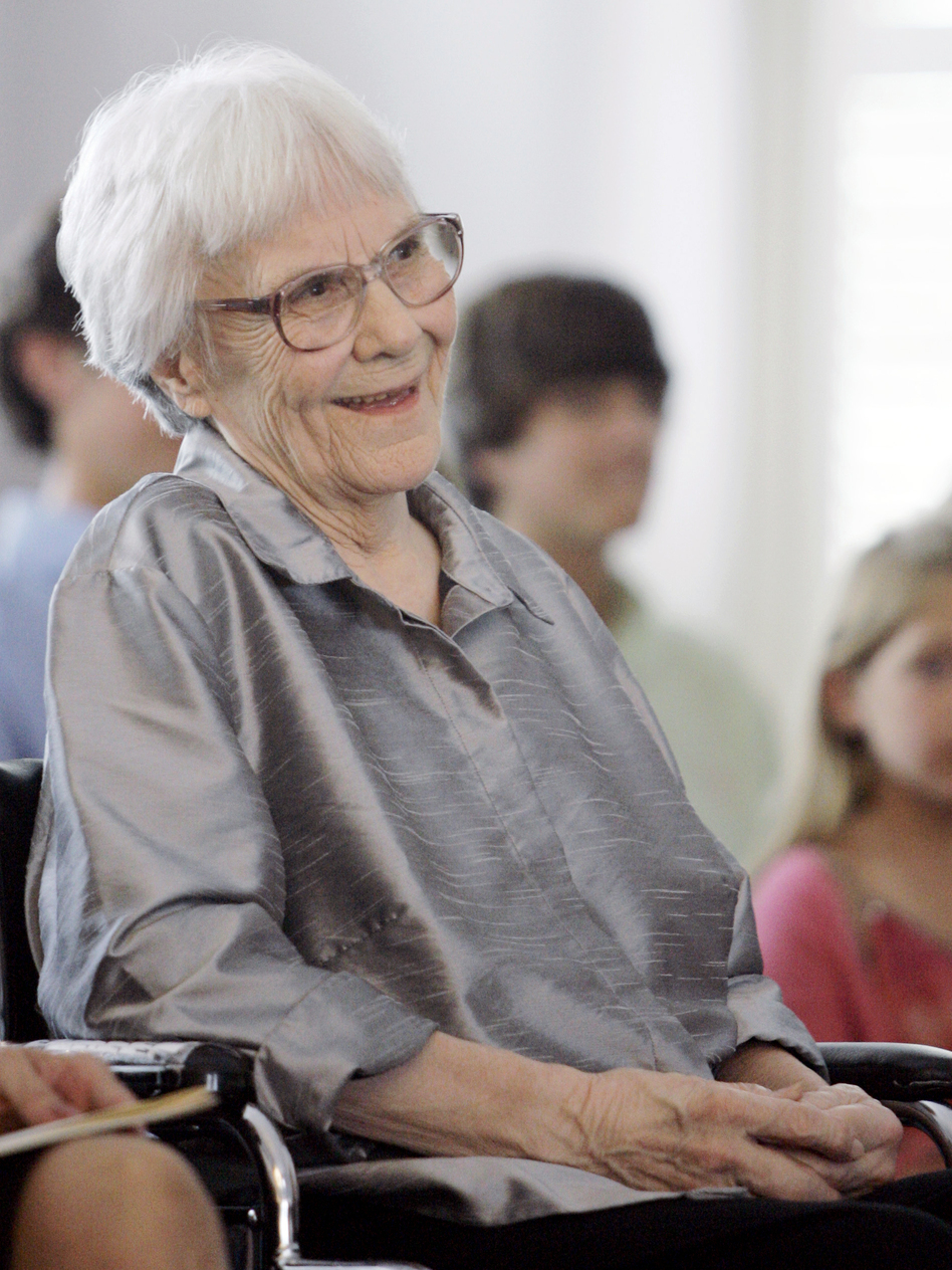 Author Harper Lee attends a ceremony in Montgomery, Ala., in 2007. (Rob Carr/AP)