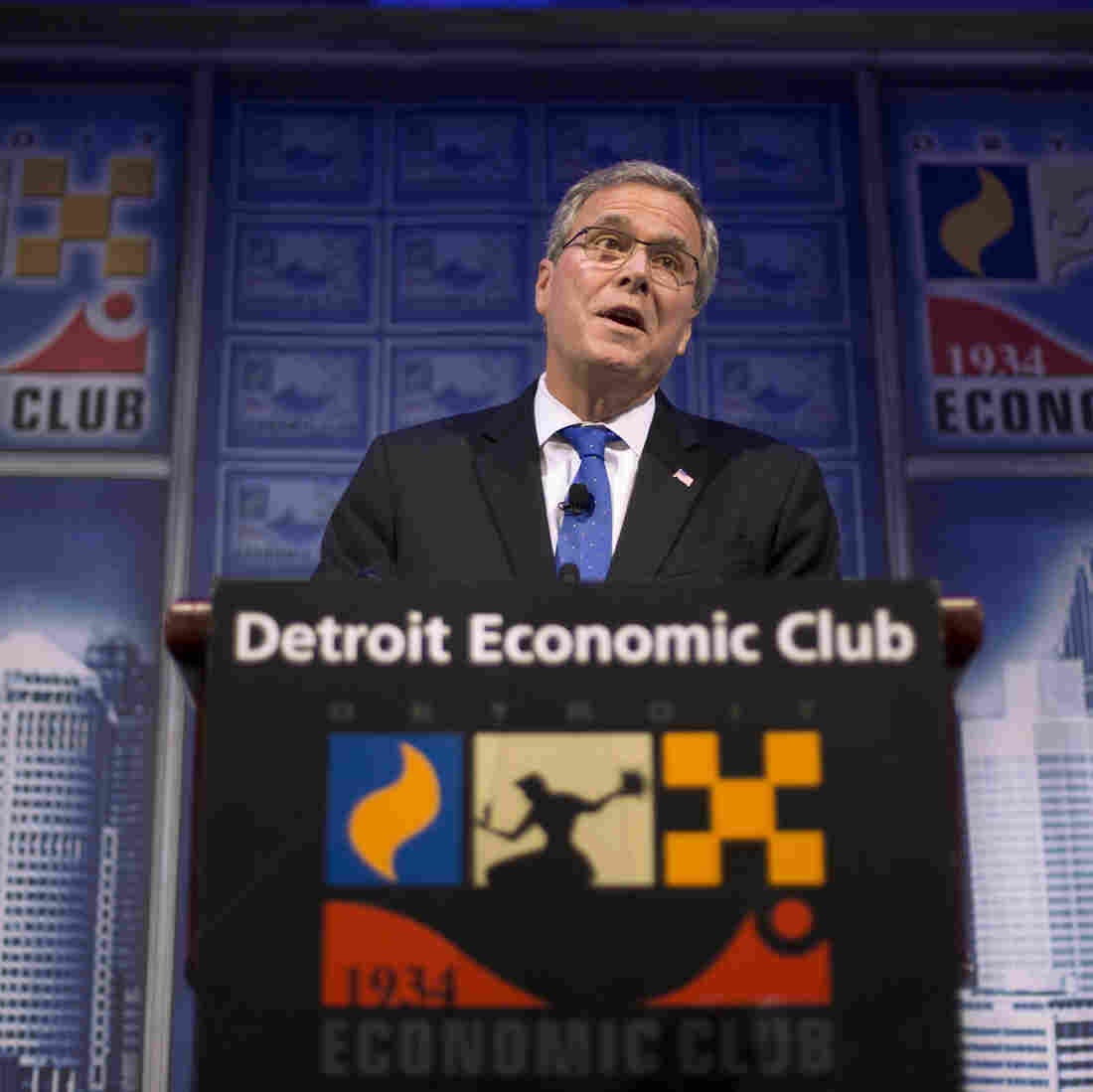 In Detroit, Jeb Bush Makes A Campaign Must-Stop