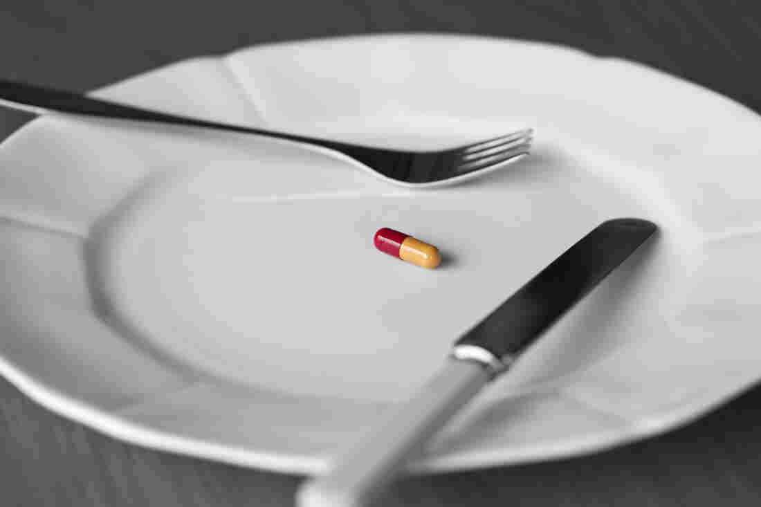"Scientists say a drug that's been effective in mice acts like an ""imaginary meal"" in the body."