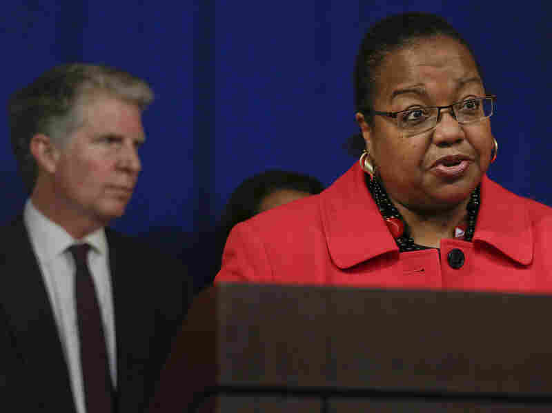 Detroit Prosecutor Kym Worthy talks about the $35 million pledged by the Manhattan district attorney to help eliminate a nationwide backlog in testing rape kits during a news conference in November.