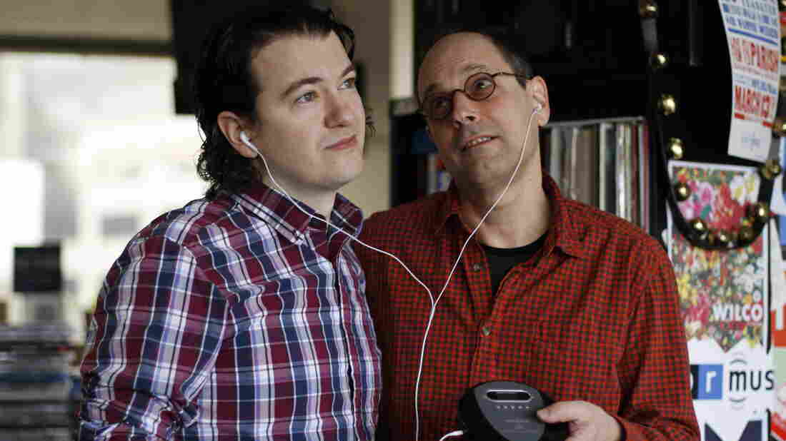 NPR Music's Stephen Thompson (left) and Bob Boilen, heartstrings aflutter.