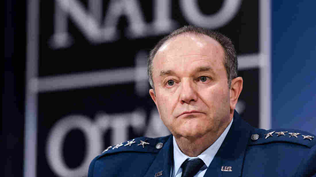 """Supreme Allied Commander Gen. Philip Breedlove attends a media conference at NATO headquarters in Brussels on Jan. 22. Breedlove told NPR on Thursday that """"the conditions in eastern Ukraine have to change."""""""
