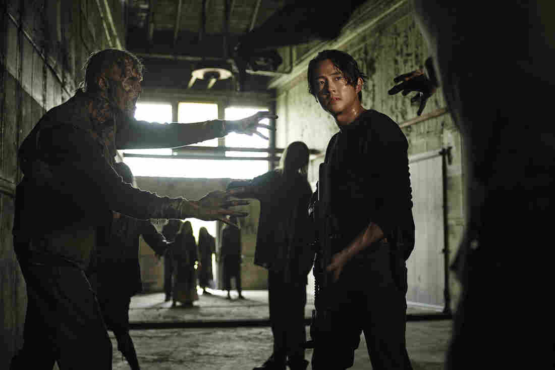 Steven Yeun as Glenn Rhee in AMC's The Walking Dead.