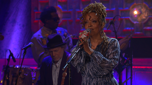 Cassandra Wilson performing at the 2014 Americana Music Awards.