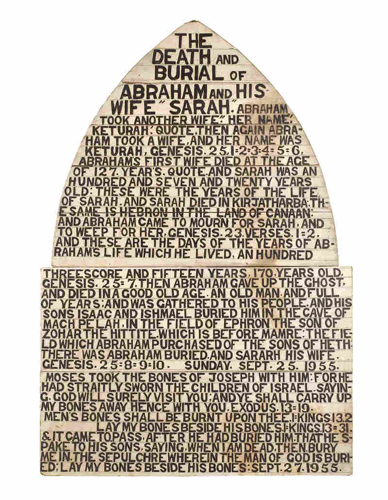 Jesse Howard, The Death and Burial of Abraham, 1955. Click here for a closer look.