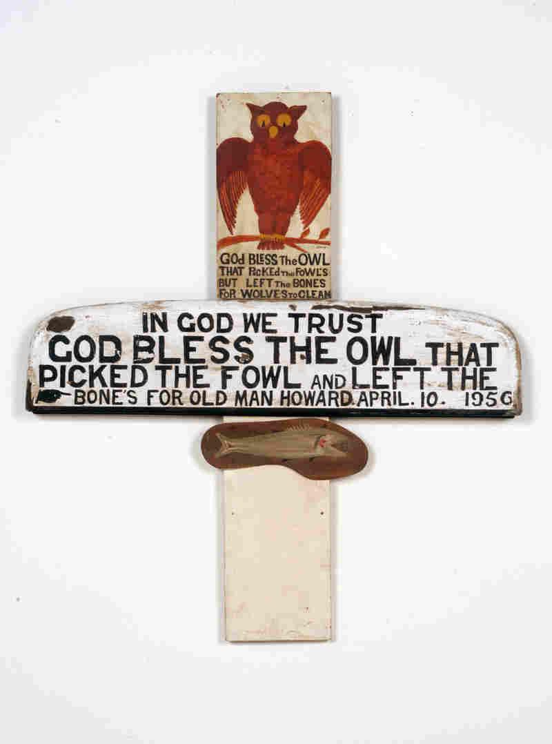 Jesse Howard, Untitled (God Bless the Owl), 1956.