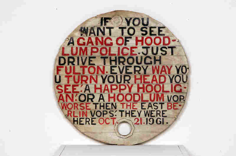 Jesse Howard, Untitled (If You Want to See a Gang of Hoodlum Police), 1961.