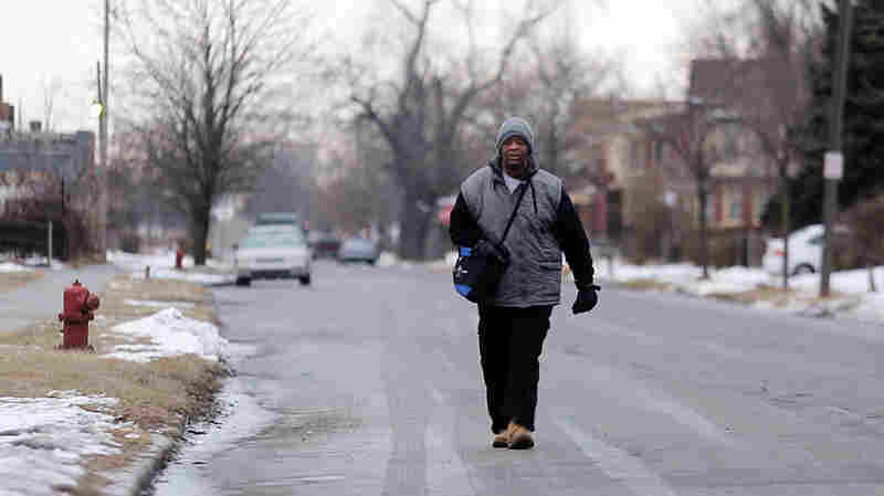 James Robertson, 56, has been making headlines for walking more than 20 miles to and from work every weekday in Detroit.