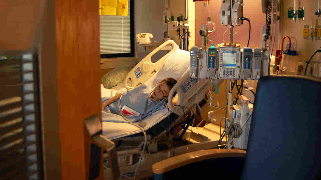 Joey lies in bed at Cincinnati Children's Hospital, not long after receiving his first dose of the immunotherapy drug Keytruda.