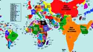 India Grows, Canada Disappears: Mapping Countries By Population