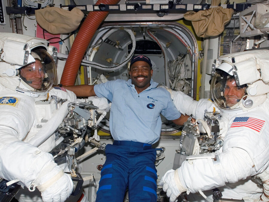 From Touchdowns To Takeoff: Engineer-Athlete Soared To Space : NPR