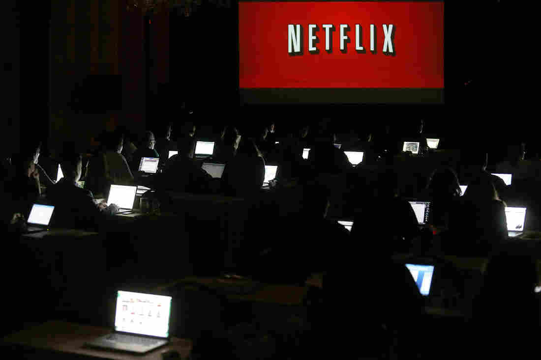 Interior view during the Netflix portion of the 2013 Winter Television Critics Association Press Tour in Pasadena, California.