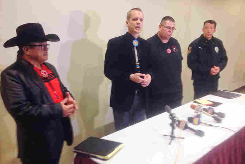 Oglala Sioux leaders and city officials at a press conference following the incident discuss possible charges, which could include child abuse, hate crimes and assault.