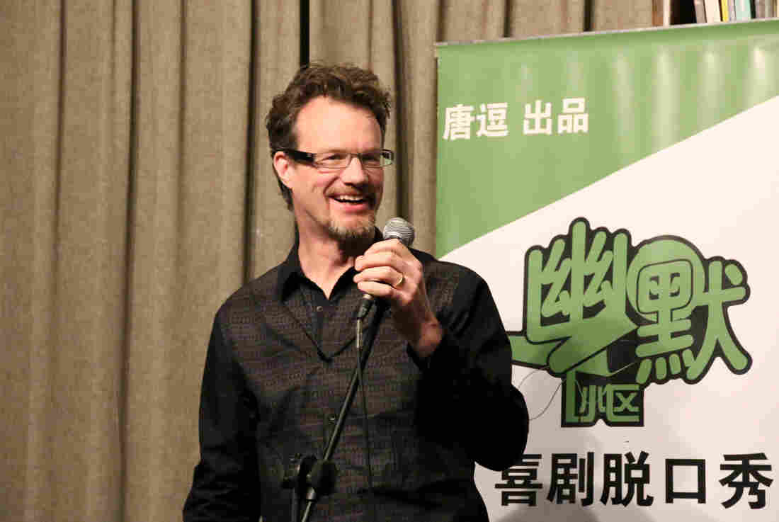 "Canadian comedian Mark Rowswell performs in Beijing. Known in Chinese as Dashan, or ""big mountain,"" he is China's best-known foreign TV personality."