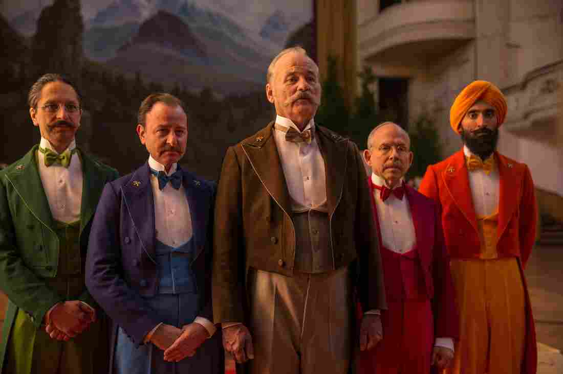 """Nearly every male character in The Grand Budapest Hotel has some kind of beard or mustache. Some were real, but hair and makeup designer Frances Hannon says """"about 60 or 70 percent"""" were artificial."""