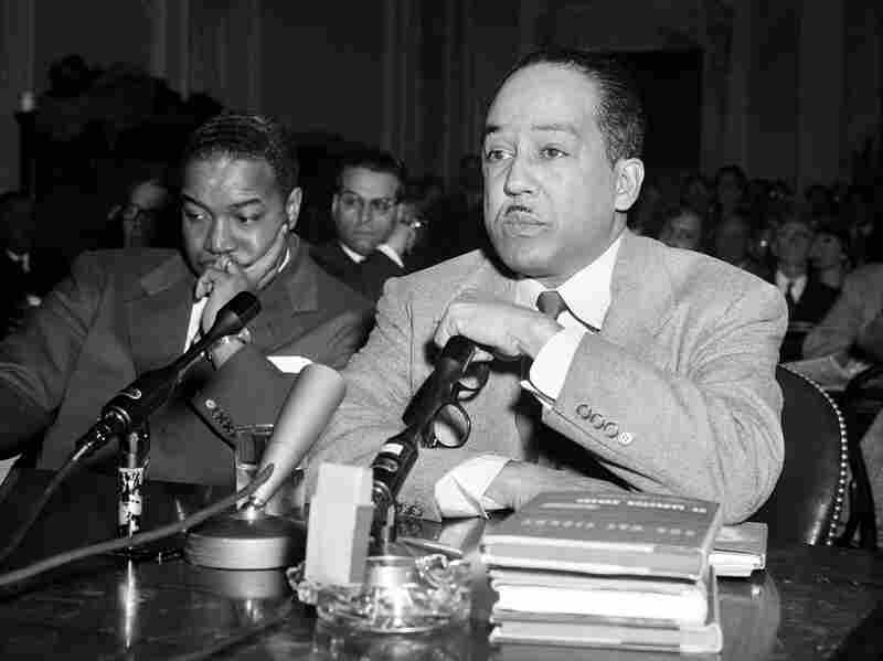 """Langston Hughes was brought before the House Un-American Activities Committee in March 1953. """"We find no evidence that he was ever a Communist, which was the accusation that haunted him through the '40s and '50s,"""" Rampersad says."""
