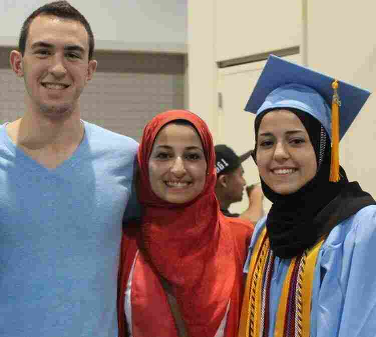 Deah Barakat; his wife, Yusor Mohammad Abu-Salha, 21; and her sister, Razan Mohammad Abu-Salha, were killed Tuesday. The photo comes from a Facebook page created by friends of the trio.