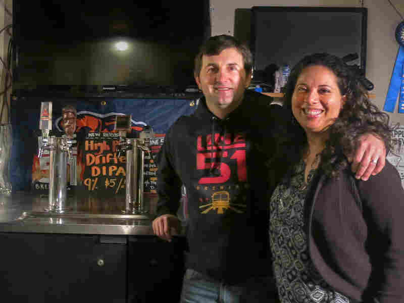 Teacher-brewers P.T. Lovern and his wife, Leti, started their craft beer company in their basement.