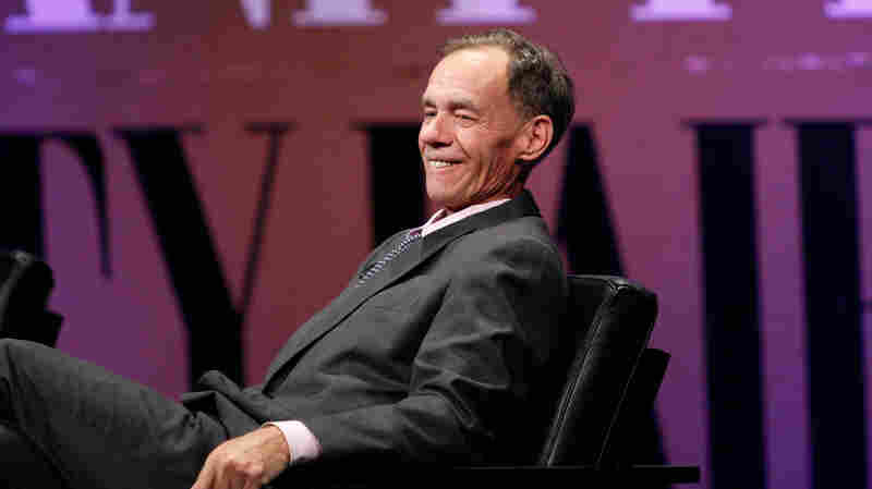 "The New York Times columnist David Carr speaks onstage Oct. 8, 2014 while moderating """"Missing Ink: The New Journalism"""" at the Vanity Fair New Establishment Summit in San Francisco, Calif."