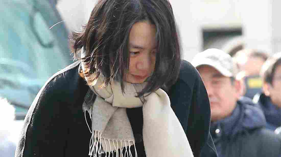 Cho Hyun-ah, former vice president of Korean Air, was sentenced to one year in prison for her behavior aboard an international flight. She's seen here in December.