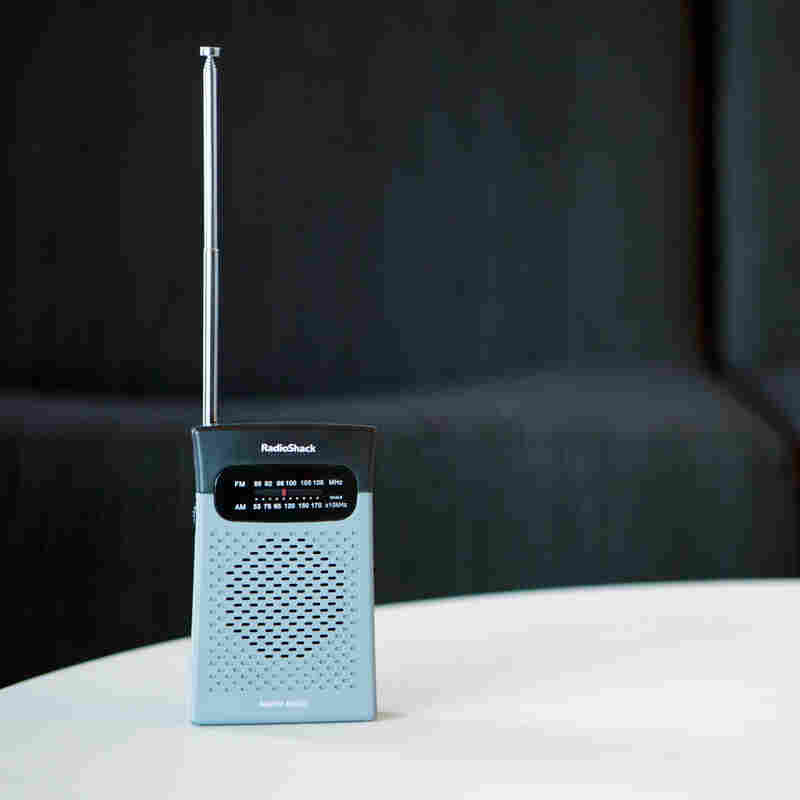We finally found this simple, traditional radio at Radioshack — though they are also available, in abundance, online.
