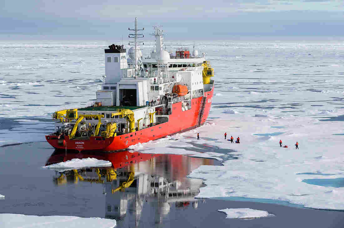 To put their probes into the Arctic Ice, researchers hitched a ride on a South Korean icebreaker.