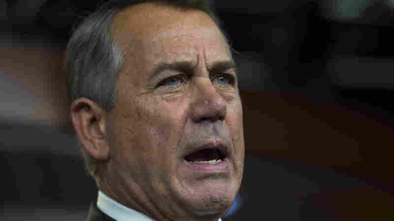 House Speaker John Boehner of Ohio speaks during a news conference on Capitol Hill in Washington, on Thursday.