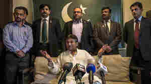 Former Pakistani president Pervez Musharraf speaks to the media in Dubai, United Arab Emirates, on March 24, 2013, shortly before ending his self-imposed exile and returning to his homeland. He now faces murder and treason charges in Pakistan, but is free on bail and living in a villa in Karachi.