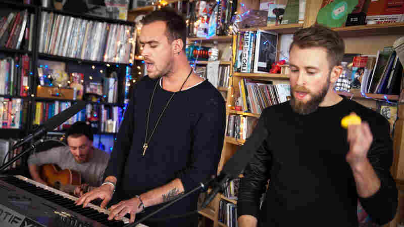 Tiny Desk Concert with Until The Ribbon Breaks on January 29, 2015.