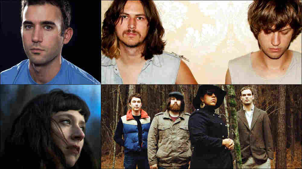 Clockwise from upper left: Sufjan Stevens, JEFF The Brotherhood, Alabama Shakes, Waxahatchee