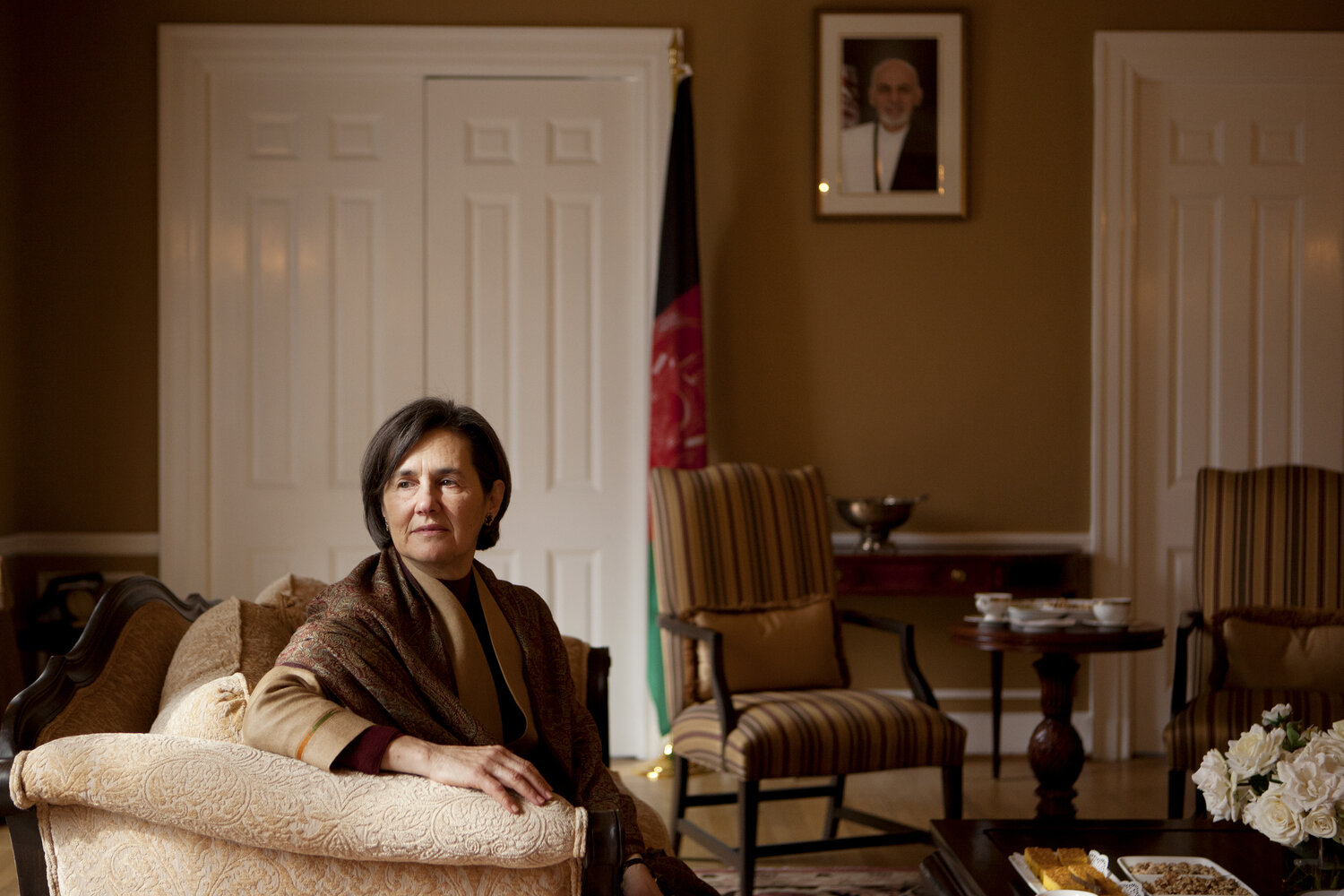 Lebanese-born Rula Ghani is Afghanistan's first lady. The wife of newly elected Afghan President Ashraf Ghani has her own office in the presidential palace and intends to play a prominent role in public life.