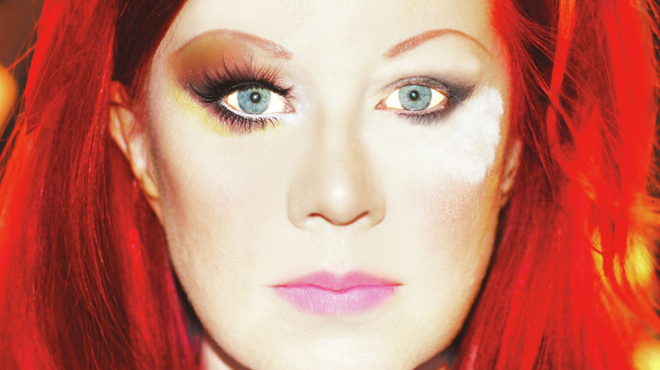 Kate Pierson's new album, her first as a solo artist, is titled Guitars And Microphones. (Courtesy of the artist)