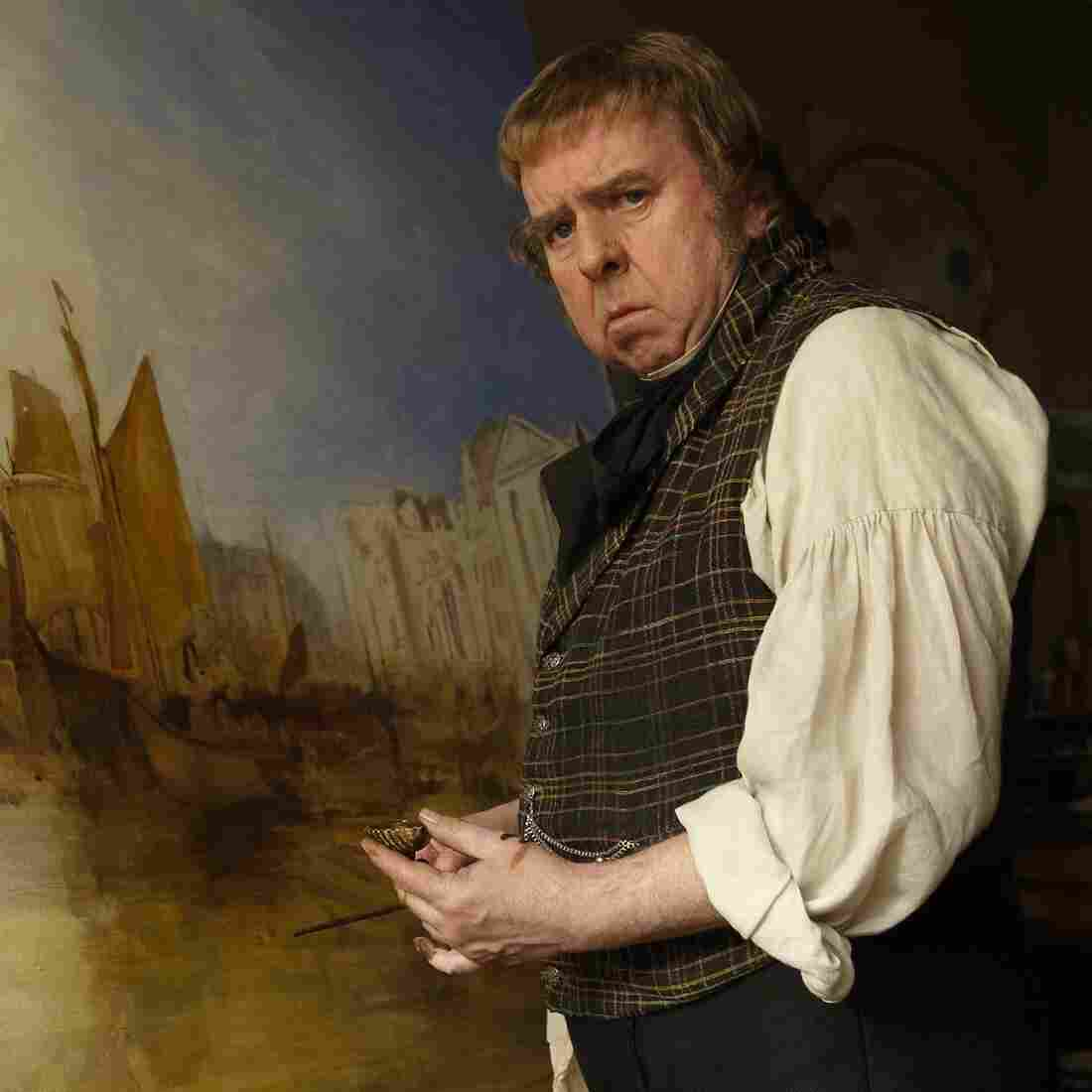 Timothy Spall as the British painter J.M.W. Turner in Mike Leigh's Mr. Turner, whose score is nominated for an Oscar.