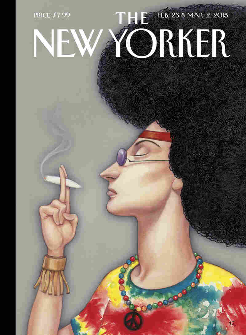 This week, The New Yorker magazine is marking its 90th anniversary with a special edition. It's running nine covers by nine of its most celebrated artists. This one is by Anita Kunz.