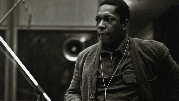 John Coltrane during the recording of A Love Supreme in December 1964. (Courtesy of the Smithsonian's National Museum of American History)