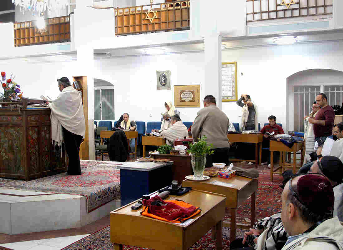 A Friday prayer service at a synagogue in Isfahan, Iran. The country had more than 100,000 Jews before the 1979 Islamic Revolution. Fewer than 9,000 remain, but say Iran is their home, even if they face limitations.