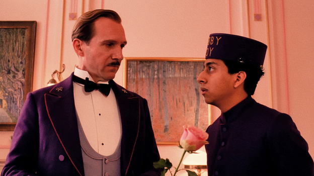 Ralph Fiennes and Tony Revolori as hotel concierge M. Gustave and his lobby-boy confidante, Zero, in The Grand Budapest Hotel. (Fox Searchlight Pictures)