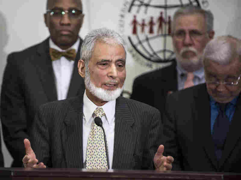 Sayyid Syeed of the Islamic Society of North America speaks in January 2013 during a press conference at the United Methodist Building. He says that groups like the Islamic State deliberately misuse the Quran and Islamic traditions, requiring other Muslims to speak up.