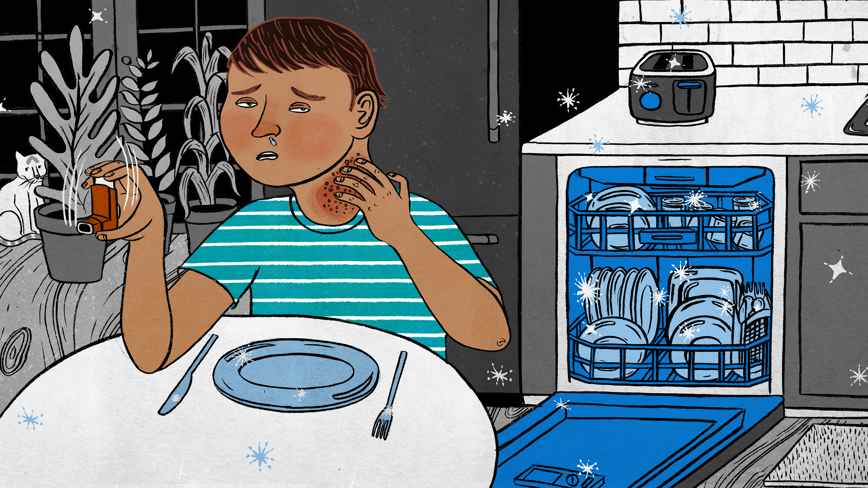 Kids, Allergies And A Possible Downside To Squeaky Clean Dishes