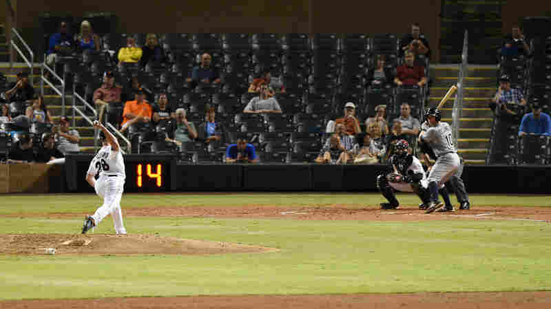 Game clocks will be a common, and mandatory, sight at MLB stadiums in the 2015 season. But they'll only be used between innings, unlike pitch clocks like this one at an Arizona Fall League game.