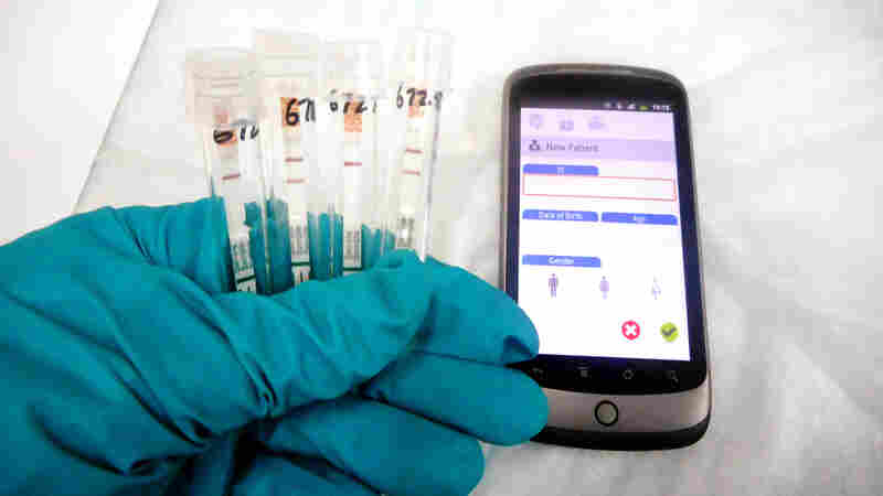 The rapid Ebola test from Corgenix Medical Corporation is small and easy to use. But because it involves blood, health workers would still need to run the test at a lab to stay safe.