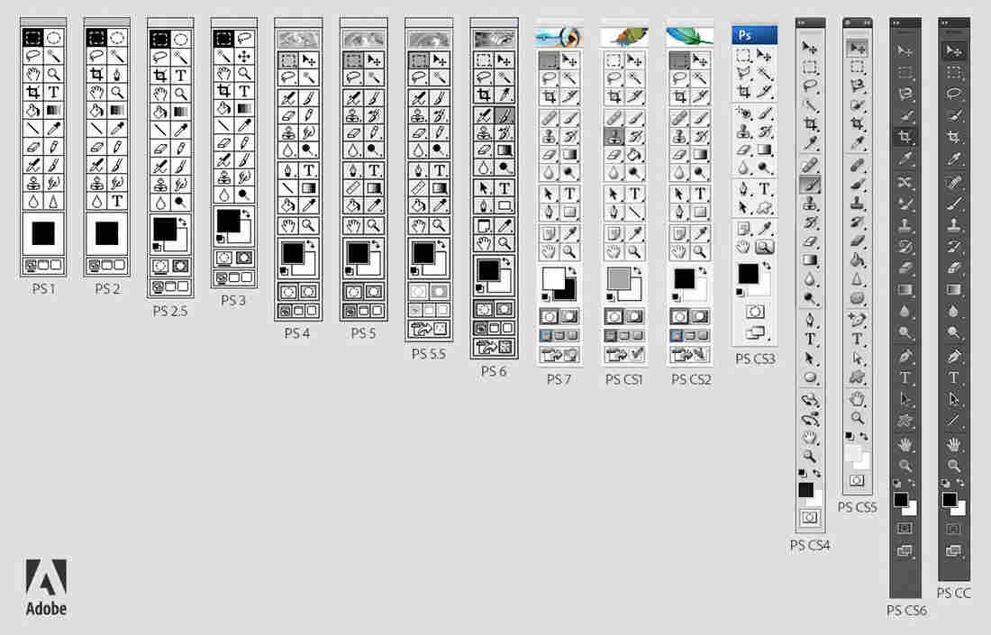 Photoshop toolbars have changed through the years, but the program has remained the industry standard for more than two decades.