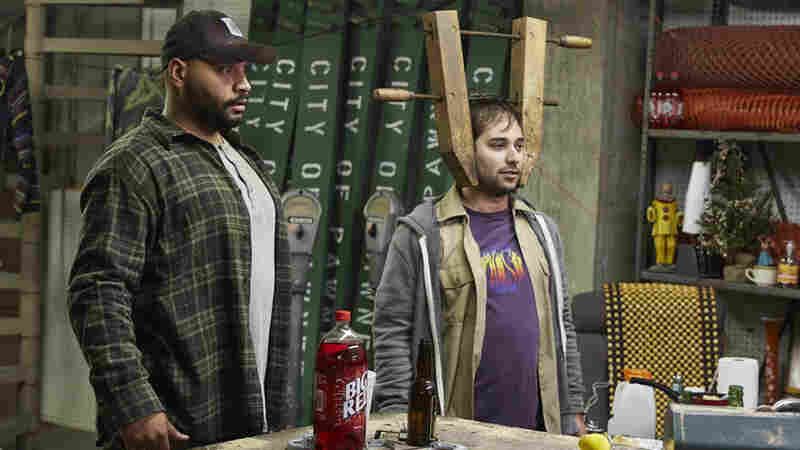 Along with Colton Dunn (L), Harris Wittels (R) played a bumbling member of the Pawnee animal control team on the show he co-executive-produced, Parks And Recreation.