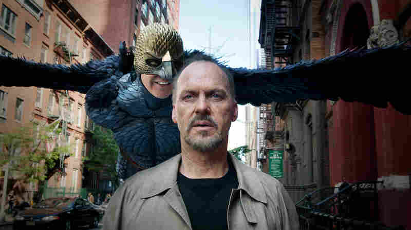 Michael Keaton is up for an Academy Award for his performance in Birdman. The movie's original score, despite receiving critical acclaim, was declared ineligible for Oscar consideration.