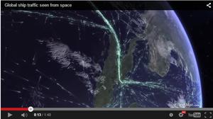 Fleetmon.com video of global shipping traffic.