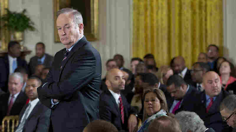Television personality Bill O'Reilly waits for the start of an event at the White House in February 2014. O'Reilly has for the past week fired back angrily at critics who have accused him of inflating his war-reporting record in a manner similar to suspended NBC Nightly News anchor Brian Williams.