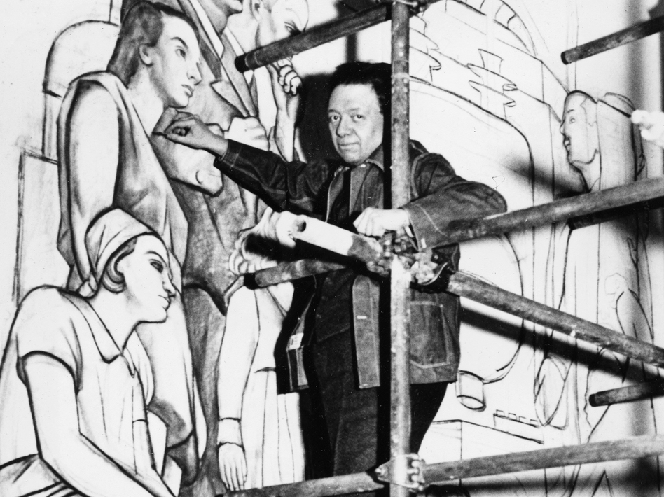 Daughters back an artful end to the rivera rockefeller for Diego rivera lenin mural