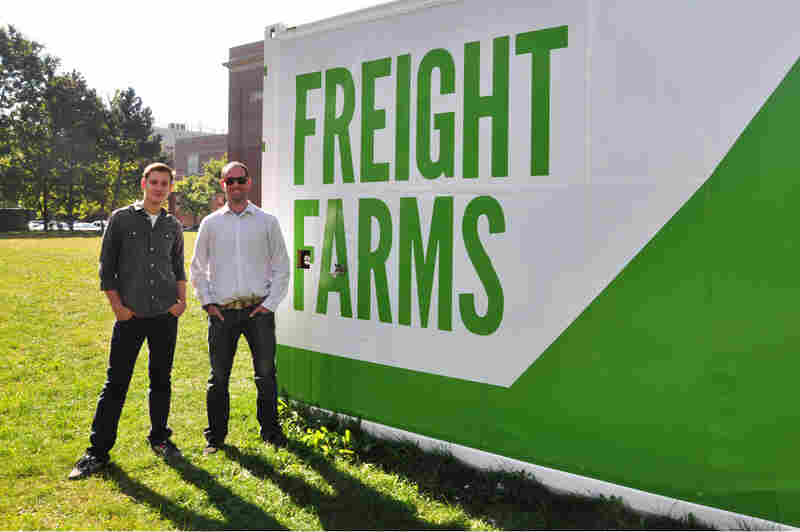 Jon Friedman (left) and Brad McNamara (right) are the co-founders of Freight Farms.