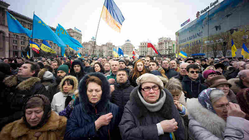 In Battered Ukraine, Spirit Of Defiance Lives On In Maidan Square
